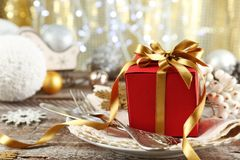 Красивая сервировка стола рождества Стоковое Фото