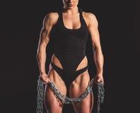 Красивая сильная женщина Стоковые Фотографии RF
