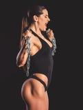Красивая сильная женщина Стоковое Фото