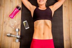 Красивая сильная спортсменка Стоковое фото RF