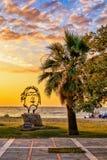 Красивая скульптура Александра Македонского в Asprovalta, Греции стоковое изображение rf