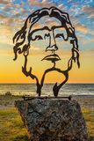 Красивая скульптура Александра Македонского в Asprovalta, Греции стоковое фото rf