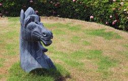 Красивая скульптура камня лошади Стоковые Фото