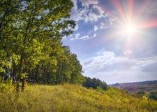 Красивая солнечная долина Стоковая Фотография RF
