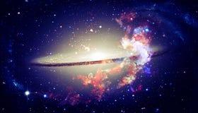 Красивая спиральная галактика в космическом пространстве Элементы этого изображения поставленные NASA стоковое изображение
