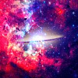 Красивая спиральная галактика Элементы этого изображения поставленные NASA стоковое фото rf
