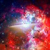 Красивая спиральная галактика Элементы этого изображения поставленные NASA стоковые изображения rf