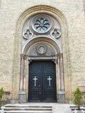 Красивая старая дверь церков, Латвия Стоковые Фото