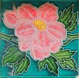Красивая старая керамическая плитка Стоковое фото RF