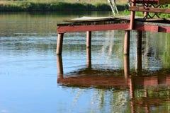 Красивая старая пристань Стоковая Фотография RF