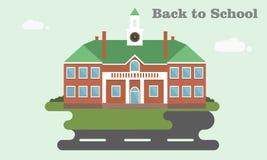 Красивая старая школа Плоский стиль дизайна Для плаката Стоковое Фото