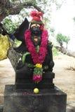 Красивая статуя бога sonaiya в виске perillamaram стоковое фото rf