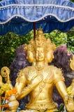 Красивая статуя brahma золота в wat Saman Rattanaram стоковые фотографии rf