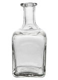 Красивая стеклянная бутылка с изогнутыми краями Стоковое фото RF