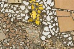 Красивая стена частей плиток, керамика, стоковое изображение