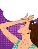 Красивая сторона женщины в профиле с закрытыми глазами Бесплатная Иллюстрация