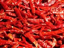 Красивая сухая предпосылка chili Стоковая Фотография RF
