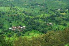 Красивая сценарная индийская деревня Satara Стоковые Изображения
