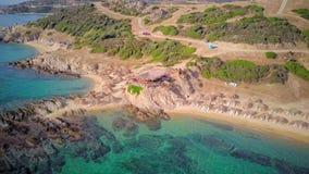Красивая съемка антенны пляжа видеоматериал
