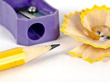 Красивая съемка shavings карандаша и карандаша Стоковые Фотографии RF