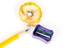 Красивая съемка shavings карандаша и карандаша Стоковое Изображение RF