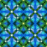 Красивая текстура конспекта голубого зеленого цвета Сложная иллюстрация предпосылки Картина печати ткани Милая безшовная плитка Д Стоковая Фотография
