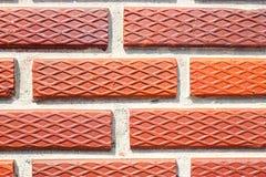 красивая текстура красной кирпичной стены Таиланда Стоковое Изображение
