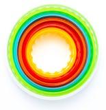 Красивая текстура с концентрическими кругами с цветами радуги Иллюстрация штока