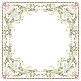 Красивая текстурированная рамка границы Стоковое фото RF