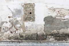 Красивая текстурированная стена в Nazare, Португалии Стоковая Фотография