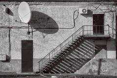 Красивая текстурированная черно-белая стена Стоковые Фотографии RF