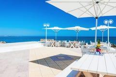 Красивая терраса с видом на море Стоковое Изображение