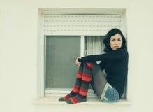 Красивая 35-ти летняя женщина Стоковая Фотография