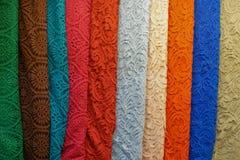 Красивая ткань в ряд стоковое изображение rf