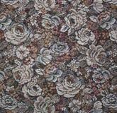 Красивая ткань с цветками. Гобелен. Стоковое Изображение