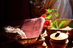 Красивая ткань ткани Стоковое Изображение