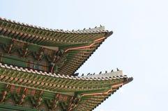 Красивая традиционная архитектура в Сеуле, Корее, общественном месте Стоковое Фото