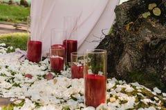 Красивая установка свадьбы для церемонии стоковые фотографии rf