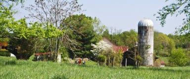 Красивая ферма Вирджинии в весеннем времени Стоковая Фотография