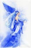 Красивая фея в сини Стоковые Фото