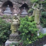 Красивая фотография ландшафта камень carvings восхитительный Деревянный высекать стоковые фото