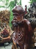 Красивая фотография ландшафта камень carvings восхитительный Деревянный высекать стоковое фото rf