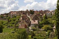 Красивая французская деревня Святого Benoit-du-Sault Стоковое фото RF