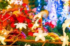 Красивая флористическая гирлянда для рождества Стоковое фото RF
