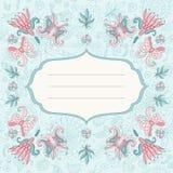 Красивая флористическая карточка праздника Иллюстрация штока