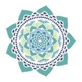 Красивая флористическая мандала Стоковые Фото