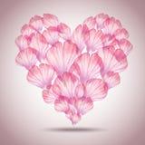 Красивая флористическая поздравительная открытка на день валентинки Стоковые Изображения