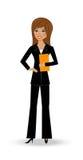 Красивая худенькая женщина в деловом костюме Стоковые Фотографии RF