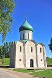 Красивая церковь в парке городка Pereslavl стоковое изображение rf