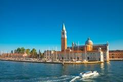 Красивая церковь Сан Giorgio Maggiore на заходе солнца, Венеции, Ital Стоковое фото RF